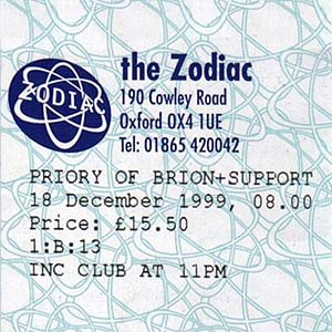LIVE AT THE ZODIAC