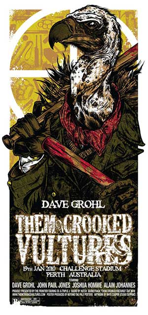 THEM CROOKED VULTURES - affiche Perth