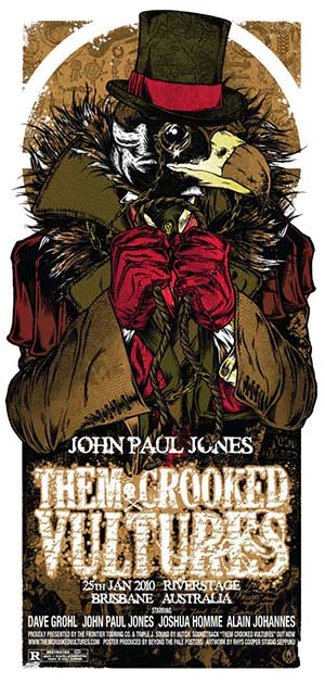 THEM CROOKED VULTURES - affiche Brisbane