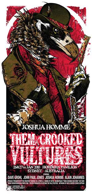 THEM CROOKED VULTURES - affiche Sidney