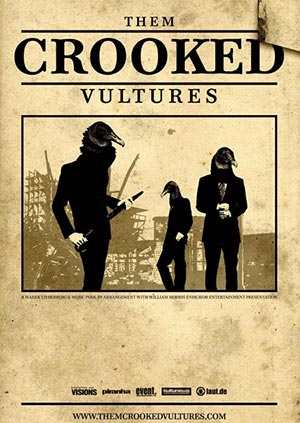 THEM CROOKED VULTURES - affiche